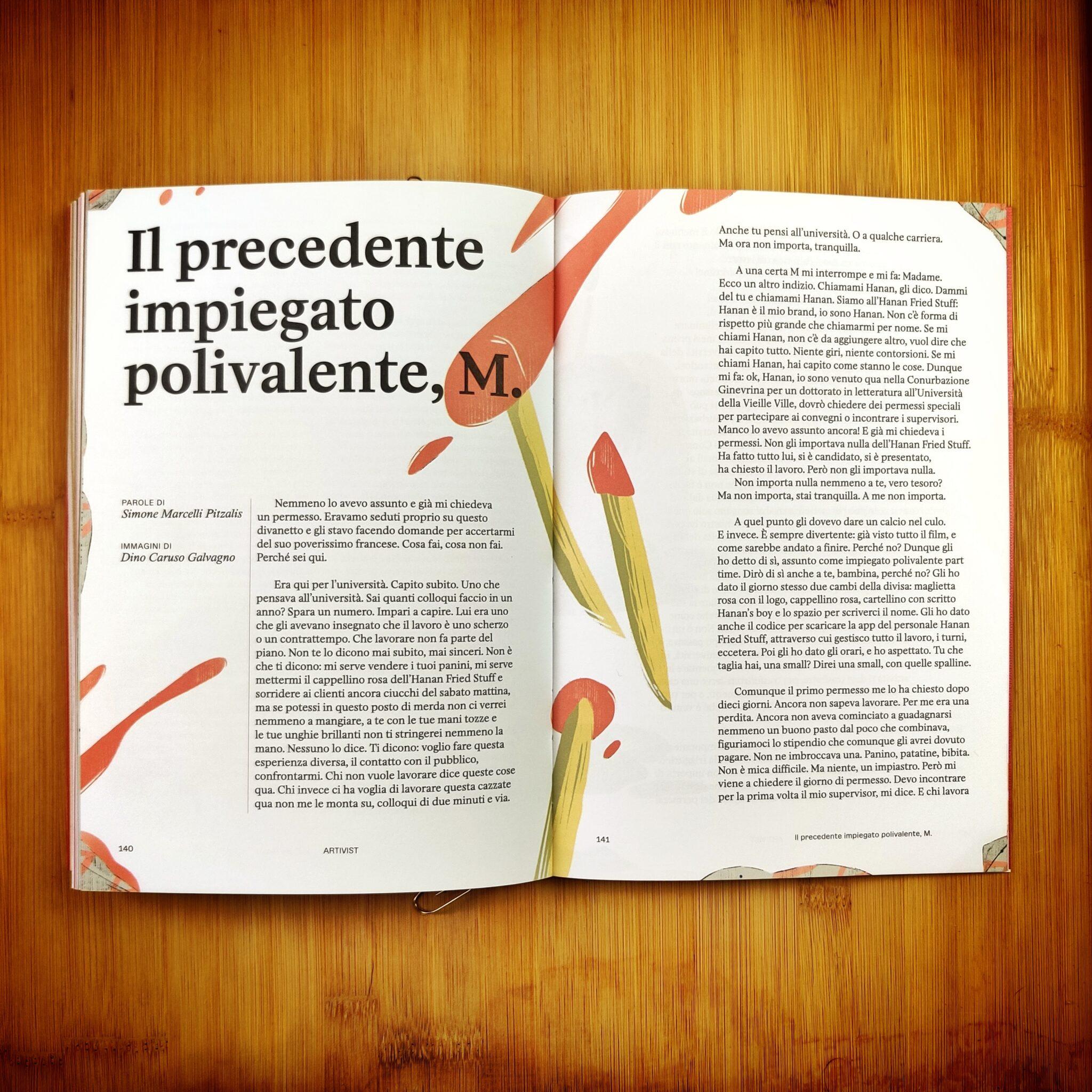 Il precedente impiegato polivalente, M. (fiction)